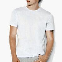 John Varvatos Collection Men's Short Sleeve Crew Tee Shirt Pima Cotton Sky Blue