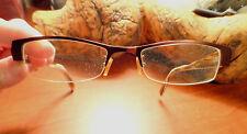 KANSAS Eye Glasses Frame 50 19 140 Brown White blend Rectangle Semi Rimless