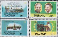 Tanzania 395-398 postfris 1987 Feestje de Revolution