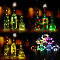 20 LED Cork Shaped Night Starry Fairy Light String Light Bottle Lamp Wine