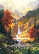 Jigsaw Puzzle Landscape Waterfall Sheep Still Waters 500 pieces NEW made in USA