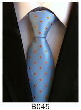 New Classic Paisley Article blue JACQUARD WOVEN Silk Men's Tie Necktie B045