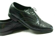 Florsheim Men's 12 D Black Patent Leather Dress Shoes Brogue Cap Toe Shoes