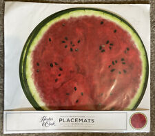 New listing Hester And Cook Watermelon Paper Placemats Set of 12