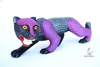 Alebrije Jaguar Wood Carving from Oaxaca by Miguel Angel Ortega Cruz
