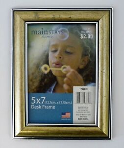 "MAINSTAYS PICTURE FRAME Vintage 5""x7"" Desk Photo"