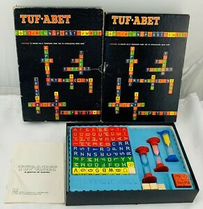 1969 Tuf-Abet Game by Avalon Hill Games Complete in Very Good Cond FREE SHIP