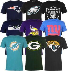 ✅ NFL Football Logo Herren TShirt Raiders Eagles Seahawks NY Giants Patriots NEU
