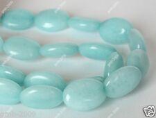 "Beautiful 13x18mm Natural Sky Blue Jade Oval Gemstone Loose Beads 15""AAA"