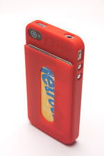 Silicone iHold iPhone 4/4s Red credit card case