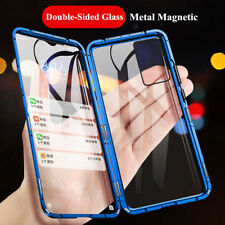 For Samsung Galaxy Note 10 Lite S20 S10 S9+ Magnetic Tempered Glass Case Bumper