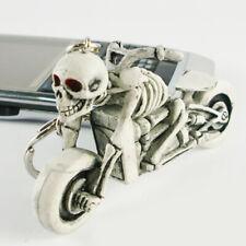 NEW Punk Moto Biker Rubber Skull Bag Purse Keychain Keyring Gift Car Accessories