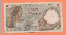 BILLET 100 FRANCS SULLY 1939 FRANCE VINTAGE  BANKNOTE BANCONOTA FRANCIA