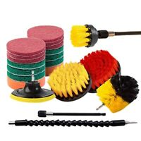 21 Piece Drill Brush Attachments Set Scrub Pads Sponge Power Scrubber Brush F7B4