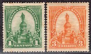 EL SALVADOR 1903 STAMP Sc. # 283 AND 285 MH