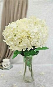 5 Heads Artificial Silk Flower Bridal Bouquet Hydrangea Wedding Decor UK