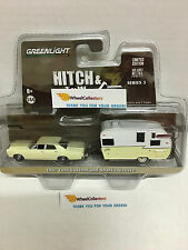 Greenlight * Hitch & Tow Series 5 * 1967 Ford Custom Yellow & Shasta Airflyte