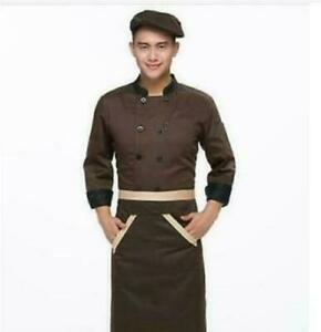 2021 Unisex Chef Jacket Coat Restaurant Hotel Work Uniform Long Mesh Sleeves PE