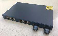 Cisco 3524-XL Poe conmutador administrado de 24 puertos Gigabit enlaces ascendentes con GBIC 2x RJ45
