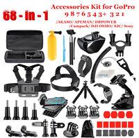 68-in-1 Accessories Kit for GoPro MAX Hero 9 8 7 6 5 4 3+ SJ4000/SJ5000/SJ6000