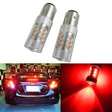 2x High Power 80W Red 1157 Projector Lens CREE LED Brake Tail Stop Light Bulbs