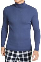 INC Mens Sweater Blue Size Small S Turtleneck Ribbed Pullover Stretch $80 #179