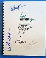 PLATOON MOVIE SCRIPT SIGNED Oliver Stone, Depp, Sheen, Dafoe, Berenger, Whitaker