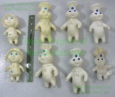 8 Pillsbury Doughboy Poppin' & Poppie Fresh Plastic / Plush Dolls Vintage 1971