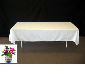 """Lot of 15 60""""X 102"""" Inch Rectangular Polyester Table Cloth For Wedding party"""