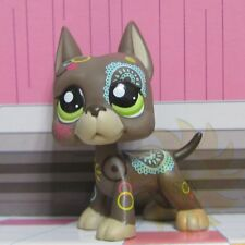 Littlest Pet Shop LPS Figure Toy Great Dane Dog Puppy #1439 Postcard Tattoo B1