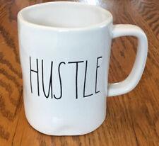 Rae Dunn HUSTLE Coffee Mug Cup White Artisan Collection By Magenta  C