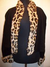 Vtg Mondi Jacket Wool Faux Fur size 38