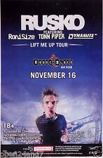 "RUSKO ""LIFT ME UP TOUR"" 2013 SAN DIEGO CONCERT POSTER - Electronic, Dub Step DJ"