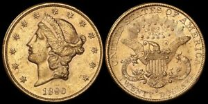 UNITED STATES 1890S $20 Liberty head. Gold.