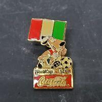 1994 FIFA World Cup Pin Italy Flag Soccer Coca-Cola Mascot National Team
