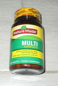 NATURE MADE MULTI COMPLETE With Iron Dietary Supplement 130 Ct Tablets MAR 2021