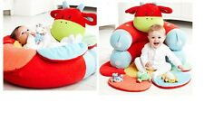 Red Cow Inflatable Baby Sofa Seat ELC Blossom Farm Sit Me Up Cosy Infant Soft