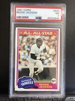 1981 Topps #400 Reggie Jackson New York Yankees HOF PSA 7 Nr-Mint Looks Like A 9