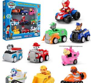 Paw Patrol Figuren 9 Stück Zurückziehen Autos Kinder Geschenk Spielzeug 9Tlg