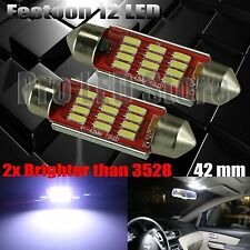 42mm Festoon High Power 4014 12SMD LED Interior Dome Map Light Bulbs