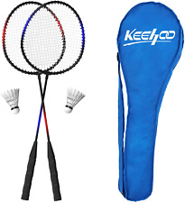 KH 2 Player Badminton Rackets Set for Adults Kids,Lightweight & Sturdy,Indoor Ou