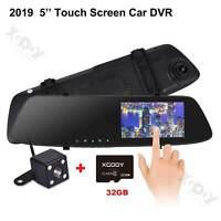 "XGODY 5.0"" 1080P HD Dual Lens Car DVR 32GB Dash Cam Camera Video Recorder 170°"