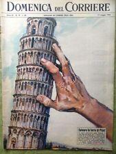 La Domenica del Corriere 12 Maggio 1963 Torre Pisa Kruscev Bongiorno Fotografia