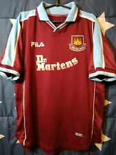 West Ham United 1999-2000-2001 Home Football Shirt Jersey Fila Size L