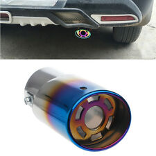 Universal Stainless Steel Car Rear Round Exhaust Pipe Tail Muffler Tip
