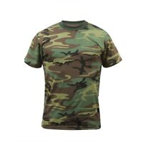 CAMOUFLAGE T-SHIRT 50/50 POLY COTTON Camo SIZES S,M,L,XL,2X,3X.4X.5X.5X.6X.7X.