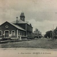Vintage Postcard RPPC Real Picture  Place Lavalrie Joliette Quebec Canada  R2