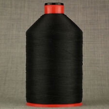 LARGE 2000mtr STRONG 20s SEWING THREAD CORE SPUN UPHOLSTERY LEATHER BLACK OXELLA