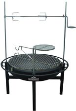 RiverGrille Cowboy 31 in. Charcoal Grill Fire Pit Rotisserie Bbq Rancher Outdoor