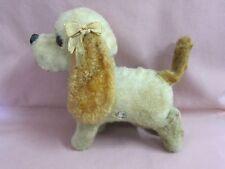 Alter Hund Plüschtier zum Aufziehen Spielzeug mechanisch vintage toy dog 12508